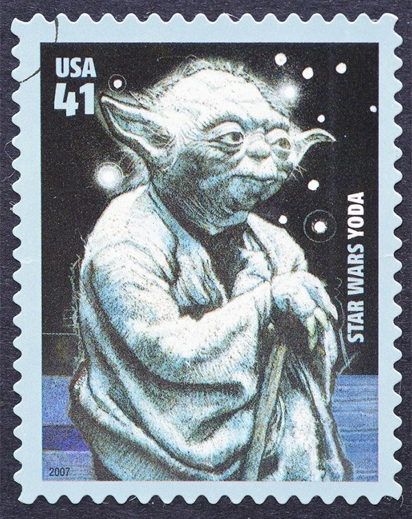 Yoda U.S. Stamp via catwalker / Shutterstock.com