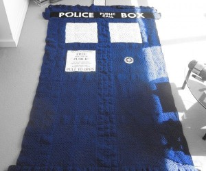 TARDIS Blanket is Warmer on the Inside