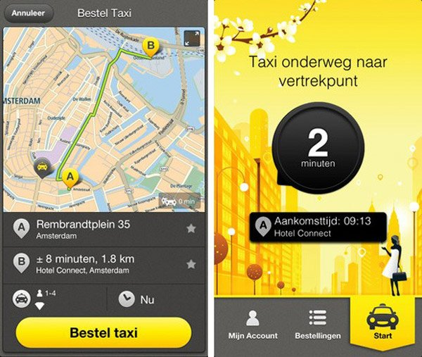 tomtom taxi app screen