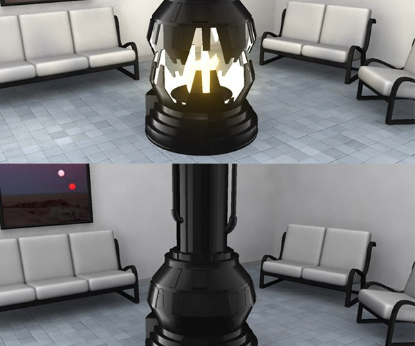 Darth Vader Meditation Chamber Fireplace, the Force is Warm with This One