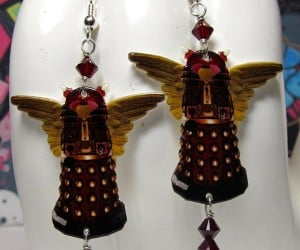 Doctor Who Valentine's Day Dalek Earrings Will Exterminate Her Heart… in a Good Way