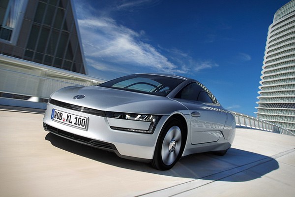 volkswagen xl1 hydrid car road photo