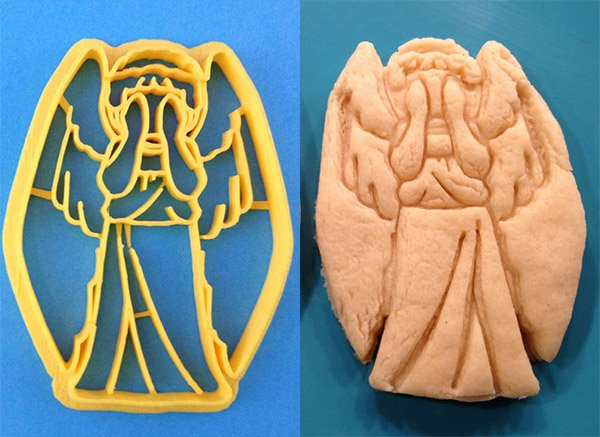 weeping angel cookie cutter