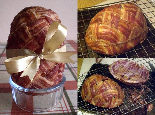 Have a Heart Attack on Easter: Bacon Easter Egg Stuffed with Sausage and Black Pudding