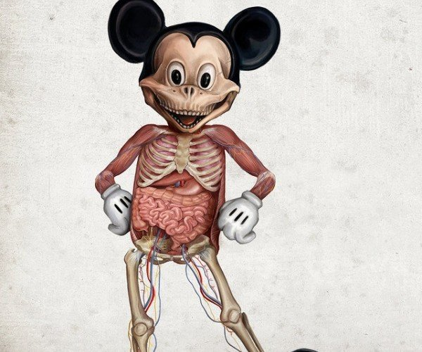Go Inside Your Favorite Cartoon Characters with Disney Anatomy