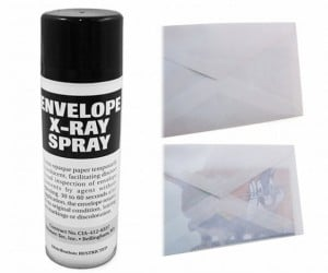 X-Ray Envelope Spray Lets You Peek at the Contents of Sealed Letters