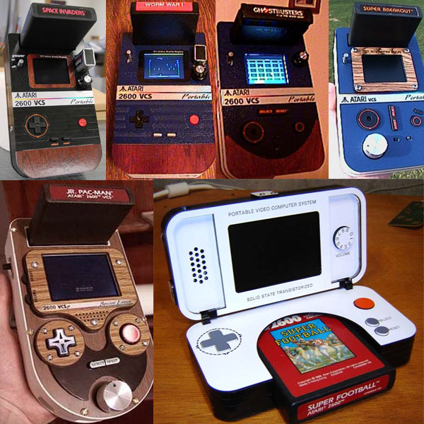 A sampling of Ben Heck's portable Atari 2600 builds