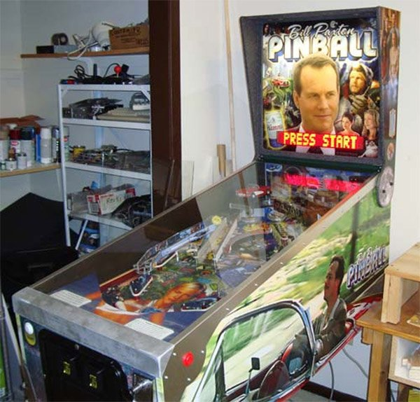 Ben's awesomely offbeat Bill Paxton pinball machine