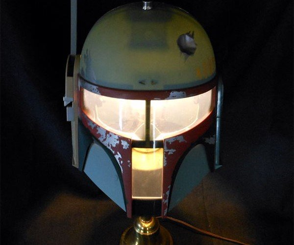 Make Your Own Boba Fett Helmet Lamp