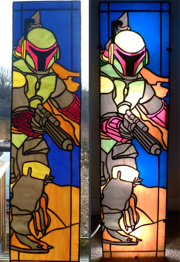 boba fett stained glass