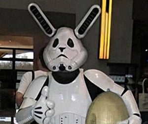 Stormtrooper Easter Bunny Costume: The Empire Hops Back