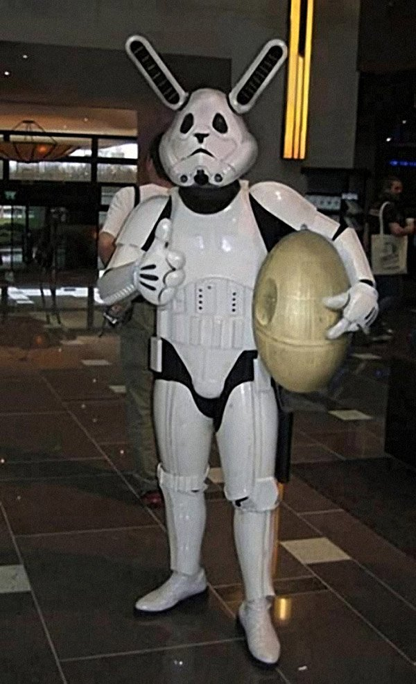 Stormtrooper Easter Bunny Costume: The Empire Hops Back - Technabob