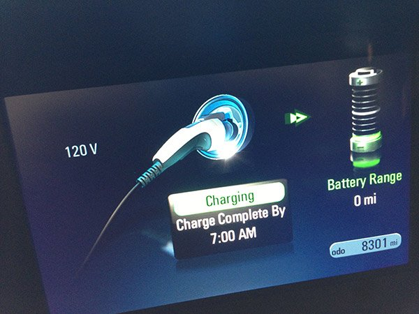 chevy volt charge info