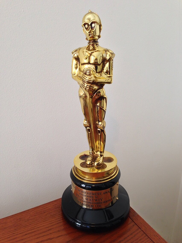 cr3po oscar c3poscar lucasfilm award by brad bird
