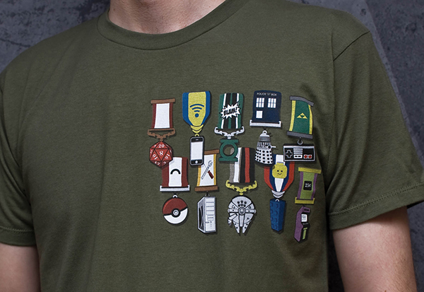 Decorated Nerd T-Shirt: Wear Your Heart on Your, Uhm, Chest