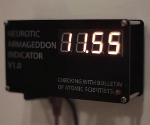 Neurotic Armageddon Indicator: Alarming Clock