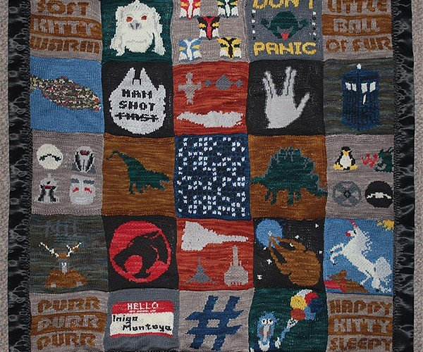 Geeky Mosaic Blanket: It's Hip to Be Squares
