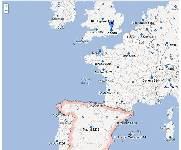Google Flight Search Expands into Europe