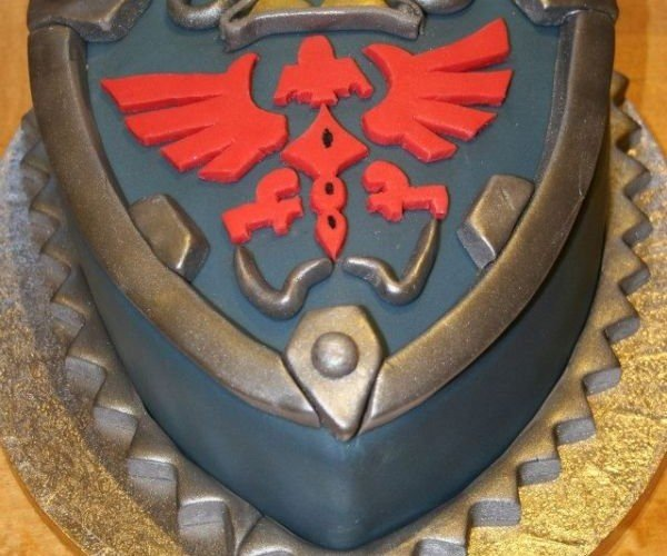 Hylian Shield Cake Won't Stop My Knife