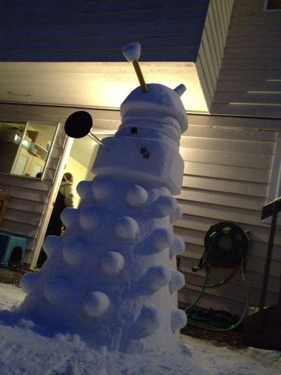 Frosty the Snow Dalek Was a Jolly Happy EXTERMINATE!!! EXTERMINATE!!! - Technabob