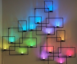 LED Wall Sconces Conceal Hidden Weather Forecast