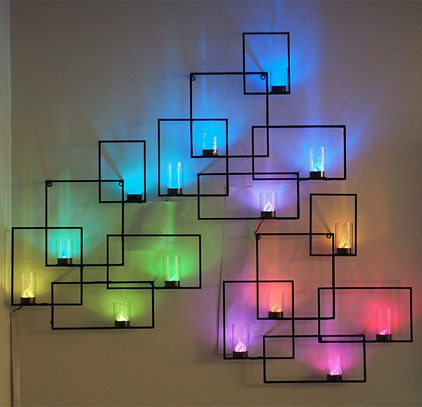 This Interactive LED Art Was Assembled By Instructables Contributor And  Parsons Design Student Adiel Fernandez. He Built The Wall Unit Using A Set  Of Three ...