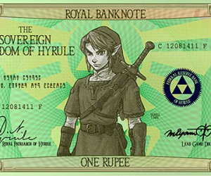 Hylian Banknotes: Link's Aching Back Would Love These