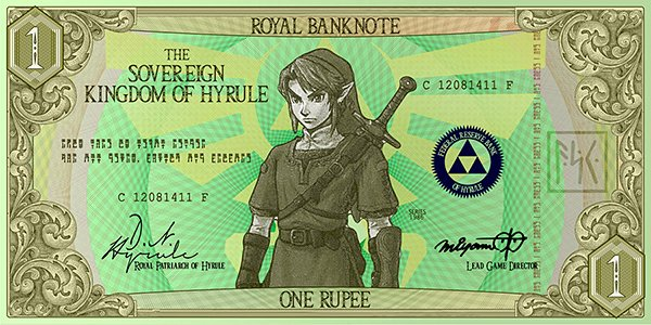 legend of zelda hylian banknotes by G33k1nd159153