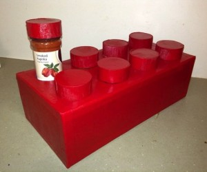 LEGO Brick Spice Rack: Brick Oven Cooking