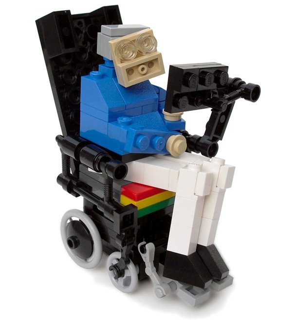 lego stephen hawking by the living brick