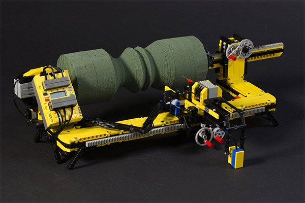 LEGO Lathe Performs Spinjitzu on Foam