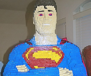 Teenager Builds Larger-than-life LEGO Superman