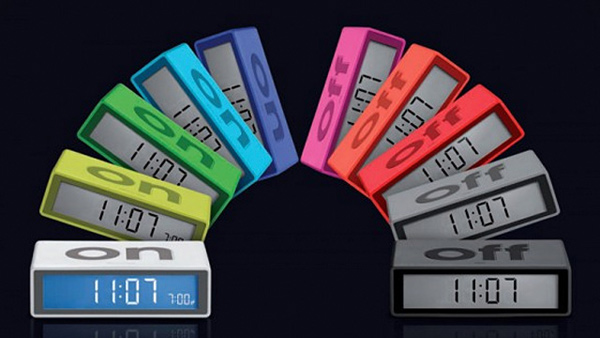 Lexon Flip Alarm Clock: Flip It to Shut It off