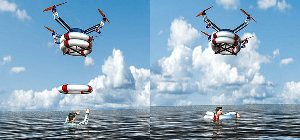 Flying Rescue Lifeguard Drone Could be a Real Life Saver