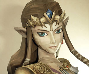 Life-Size Papercraft Zelda: Let's Hope Ganon Doesn't Have a Lighter