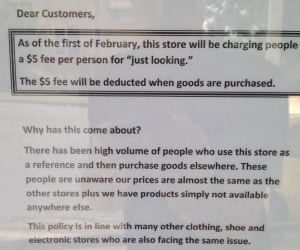 Store Owner Wants Five Dollars to Let You Look around in His Store