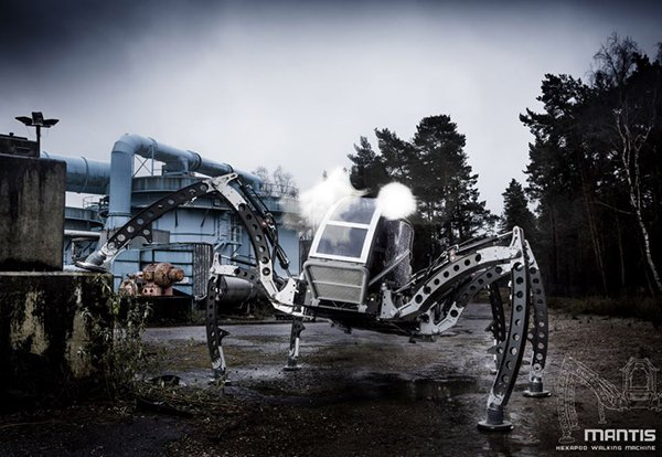 Mantis Ridable Hexapod Robot: Insecticon