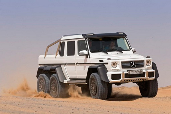 mercedes benz g63 6x6 jeep white photo