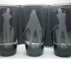 Walking Dead Michonne and Pets Drinking Glasses: Let's Drink to the Zombie Apocalypse
