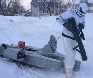 Millennium Falcon Sled: The Falcon Goes to Hoth