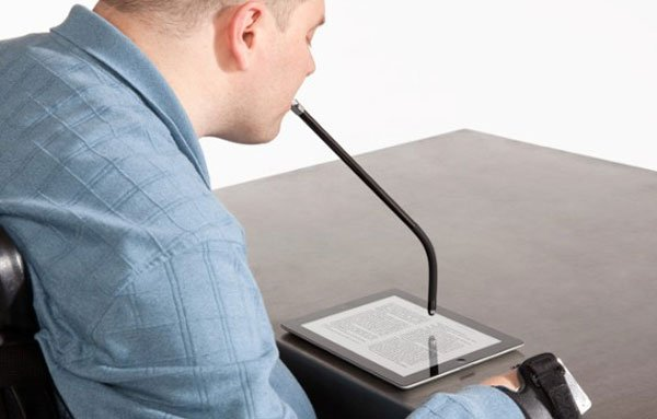 Griffin MouthStick Helps the Disabled Operate Tablets and More