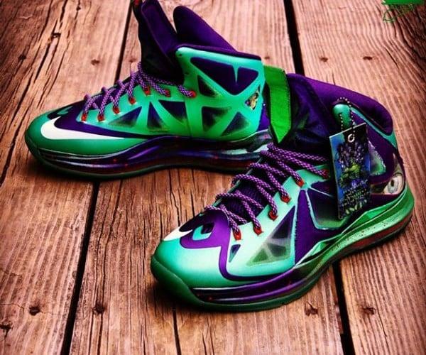 Nike Lebron X Custom Jaded Hulk Sneakers: HULK SMASH!