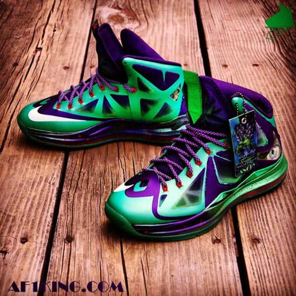 nike lebron x jaded hulk custom photo