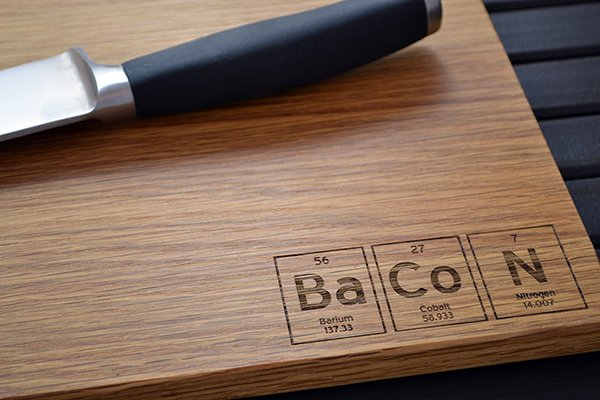 Periodic Table Cutting Board Adds An Element Of Geekery In