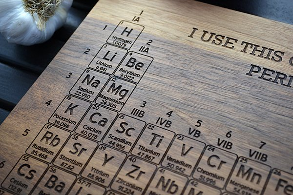 Periodic Table Cutting Board Adds an Element of Geekery in the Kitchen