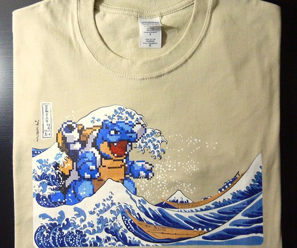 I Choose You T-Shirt: Pokémon Meets Hokusai, is Super Effective