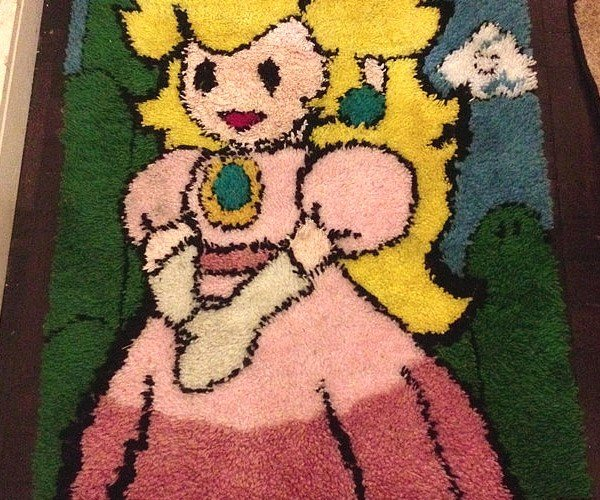 Princess Peach Rug: Your Princess is on Another Carpet
