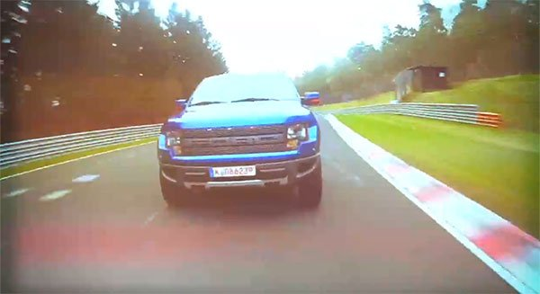 Ford Raptor Pickup Totally out of Place, Yet Right at Home on the Nürburgring