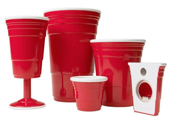red cup drinkware