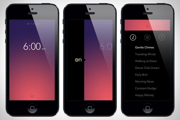 simple bots iphone alarm app screen photo